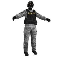 swat 2 3d max