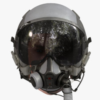 3d flight helmet model