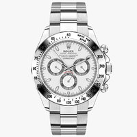 rolex daytona steel white 3d model