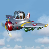 max cartoon fighter plane