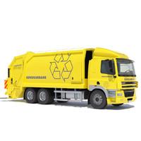 maya daf cf 85 garbage truck