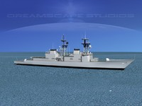 spruance class destroyer 3D models