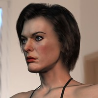 3d model milla jovovich body female