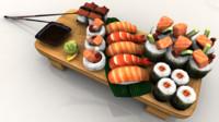 3d sushi model