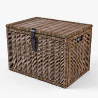3d wicker rattan chest ikea model