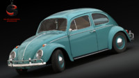 3d volkswagen beetle 1963 model