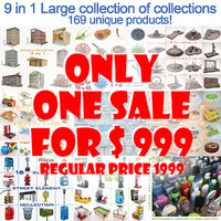 large collections 9 1 3d max