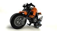 lego motorcycle obj