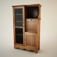 3d antique hutch model