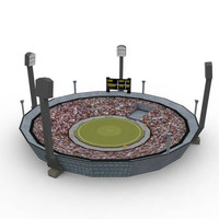 3d model cricket stadium