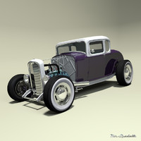 hot rod coupe 3d model