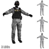 3d swat 2 model