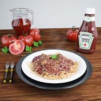 spaghetti plate scene max