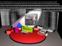 3d model tv talkshow 011 talk
