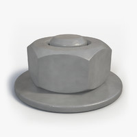 free max model painted hex nut