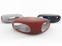 3d coffee table pebble