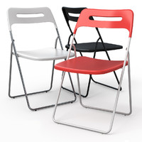 3d nisse folding dining chair model