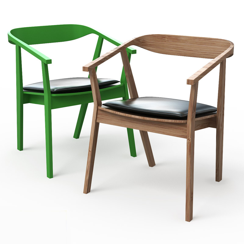 Stockholm dining chair pad 3d model - Ikea chaise stockholm ...