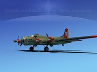 3ds max b-17 hp boeing flying fortress