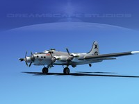 3d max b-17 hp boeing flying fortress