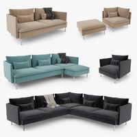 s max ikea soderhamn series corner sofa