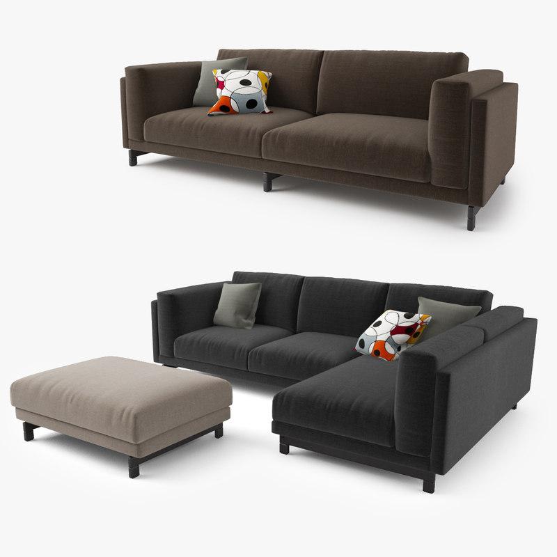 3d model ikea nockeby series sofa for Sofa nockeby
