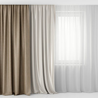 curtain tulle 3d max