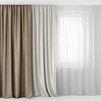 3d curtain tulle