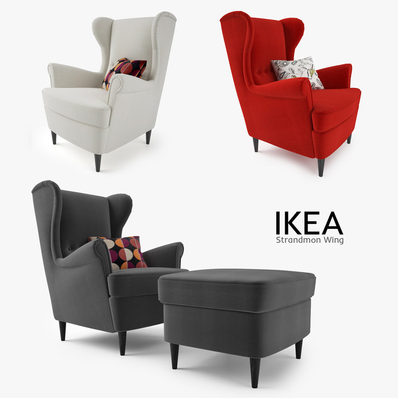 3d Model Ikea Strandmon Wing Chair