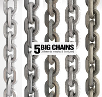c4d 5 big chains realistic