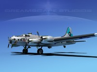 3dsmax b-17 boeing flying fortress