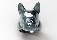 3d french bulldog ring model