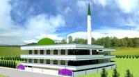 3d india mosque