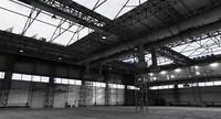 3d model industrial building warehouse