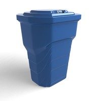 3d trash cans model