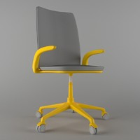 realistic conference chair office 3d model