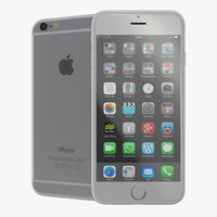 3d model iphone 6 silver 2