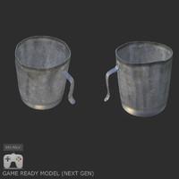 3d model cup normal