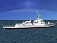ship burke class destroyers 3d max