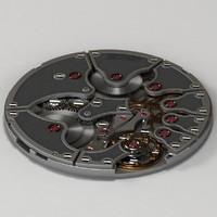 3d model of watch mechanism