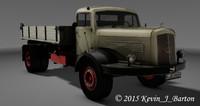 3d model oldtimer mercedes