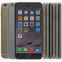 3d iphone 6 set 2 model