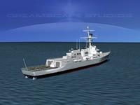 3dsmax ship arleigh burke class