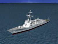 3d dxf ship arleigh burke class