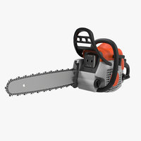 3d chainsaw saw model