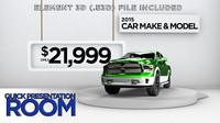 3d automotive advertising sleek model