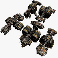 5 Transport Space Ships