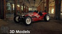 3d model vintage sprint car media
