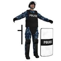 3d riot police officer 2