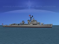 3d anti-aircraft gearing class destroyers model
